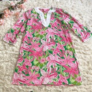 Lilly Pulitzer cotton 3/4 sleeve tunic dress